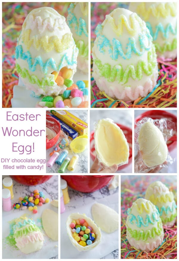 DIY Surprise Easter Egg - DIY chocolate egg with a hidden candy surprise!