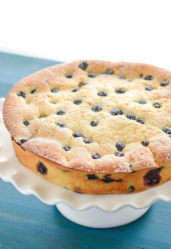 Blueberry And Lemon Sour Cream Cake Recipe Easy Sour Cream Cake