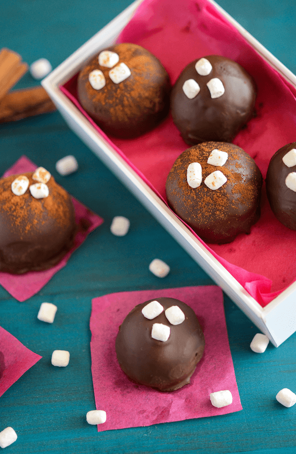 Mexican Chocolate Truffles - lightly spiced with cinnamon and cayenne!