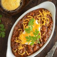 Slow Cooker Bean Chili Recipe