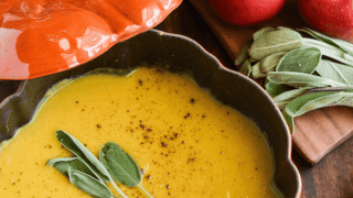 Butternut Squash, Apple & Sage Soup
