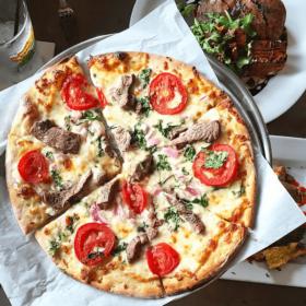 Tenderloin Pizza at Ella's Folk Art Cafe in Tampa, FL