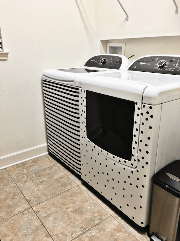 Washer & Dryer with decorative vinyl stickers!