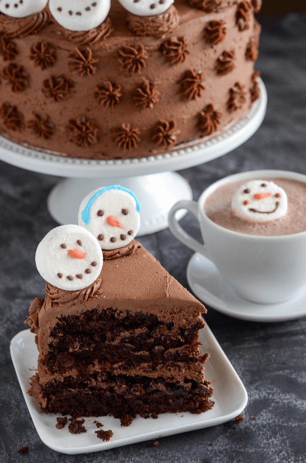 Hot Chocolate Dream Cake The Novice Chef