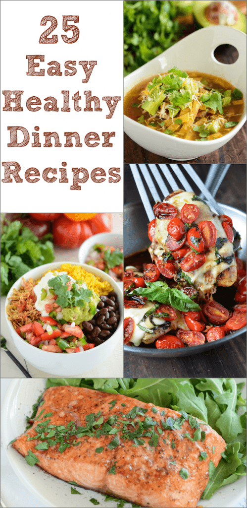 A Collage of Four Healthy Dinner Ideas