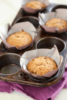 Banana Brown Sugar Muffins in a muffin tin