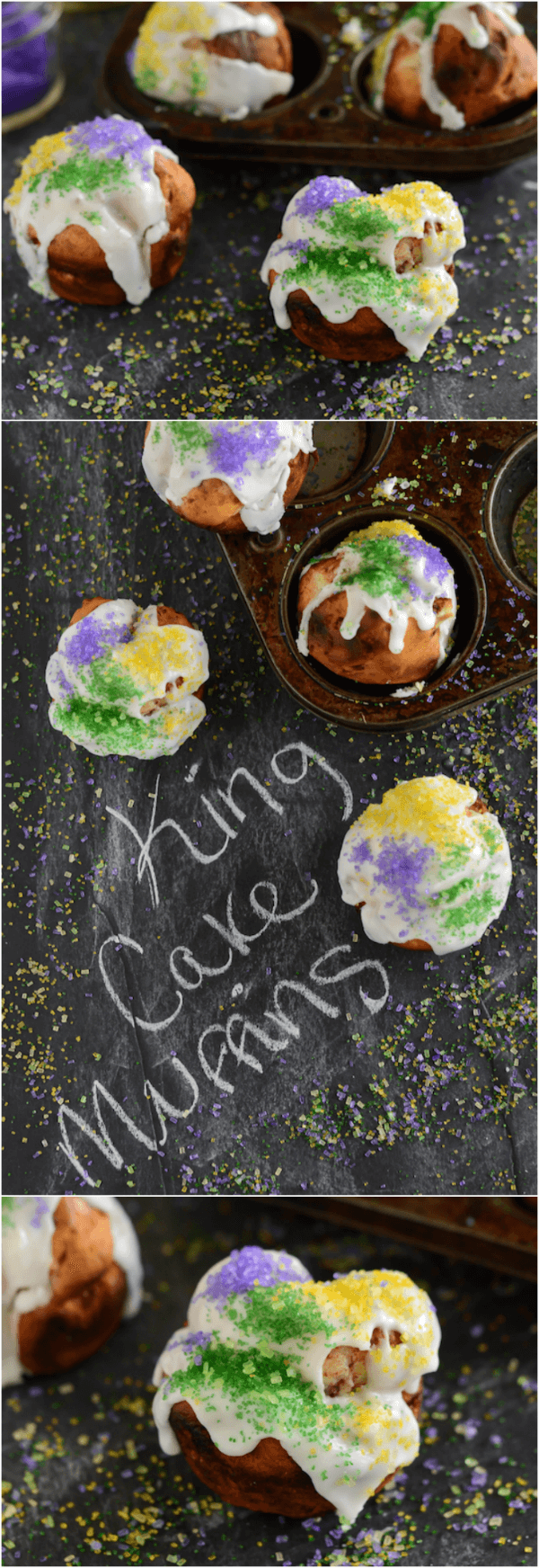 King Cake Muffins photo collage