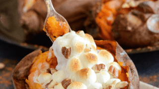Marshmallow Stuffed Sweet Potatoes