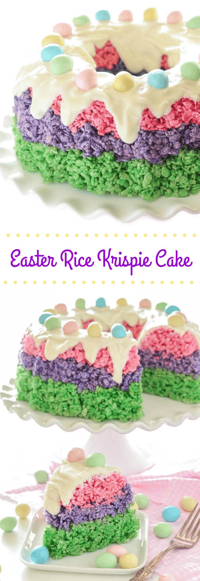 Easter Rice Krispie Cake The Novice Chef