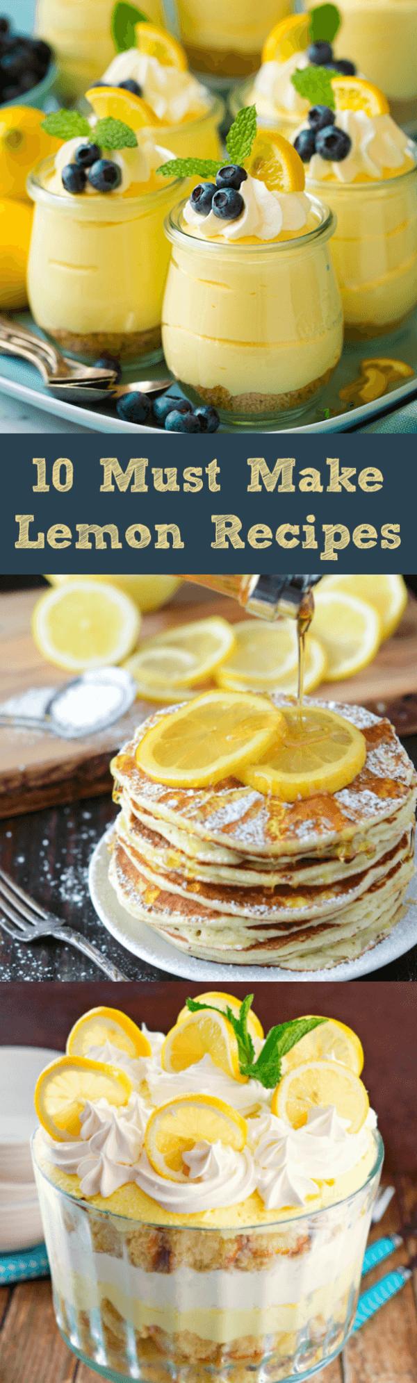 Lemon Pancakes, Lemon Sorbet and an Outrageous Lemon Trifle