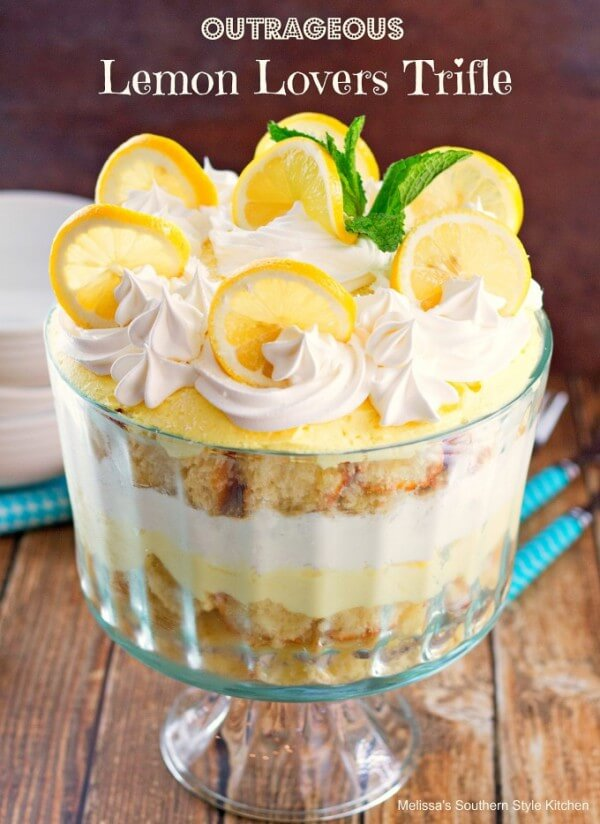 Outrageous Lemon Lovers Trifle!