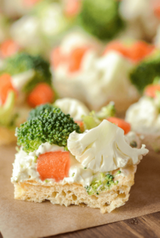 Close up of Ranch Veggie Bars