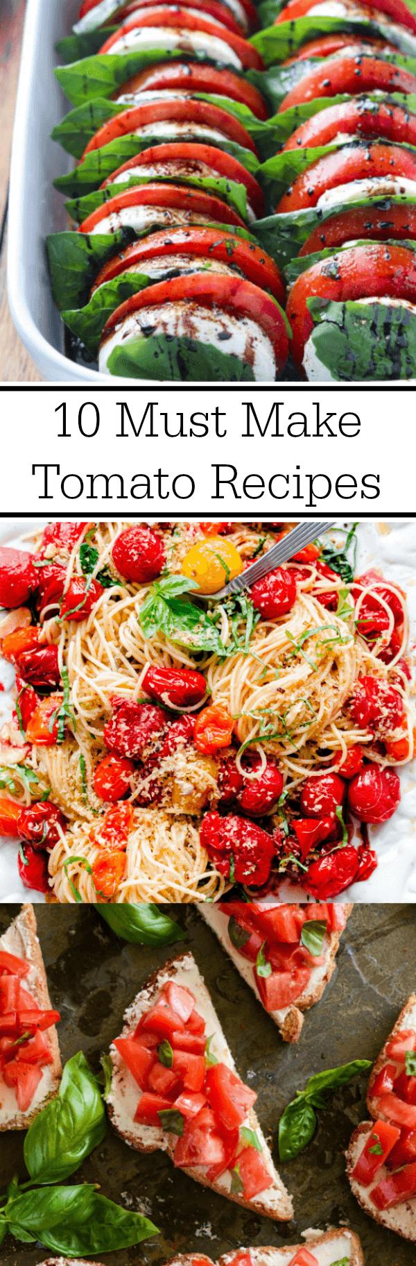 Tomato Salad, Tomato Spaghetti and Tomato Toast