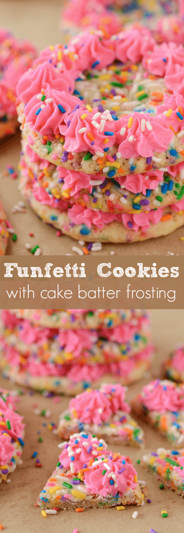 Funfetti Cookies Collage