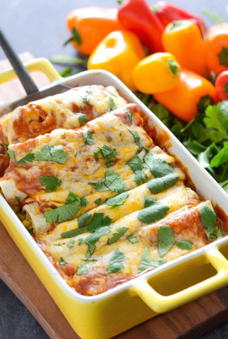 Vegetable Enchiladas Recipe The Novice Chef