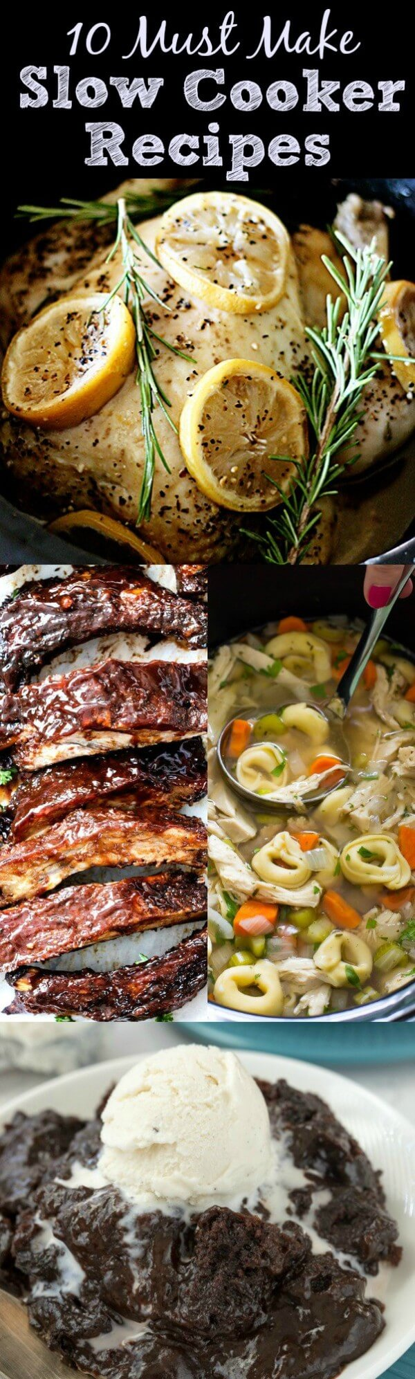 Chicken, Soup, Ribs and Brownie Pudding with Ice Cream