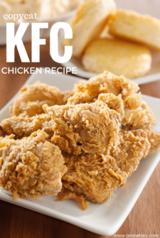 Pieces of Copycat KFC Chicken on a Plate