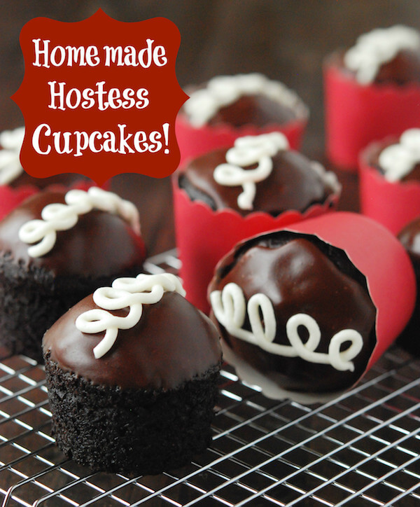 Copycat Hostess Cupcakes on a Cooling Rack