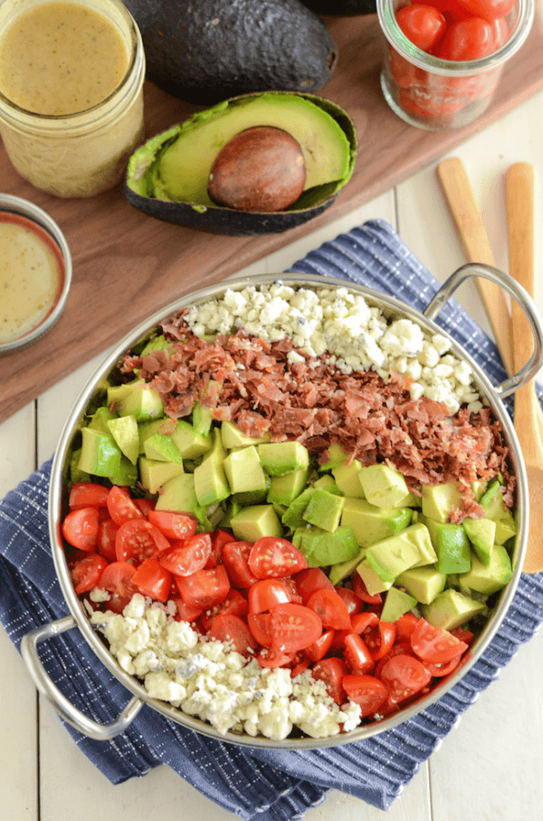 A Copycat Maggianos Chopped Salad in a Pan