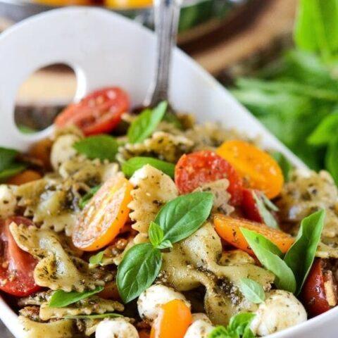 Pesto Bacon Pasta Salad