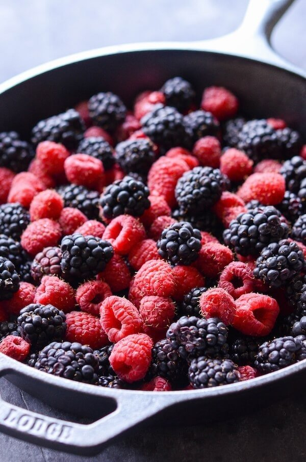 Skillet Berry Cobbler - perfect classic berry cobbler in a cast iron skillet!