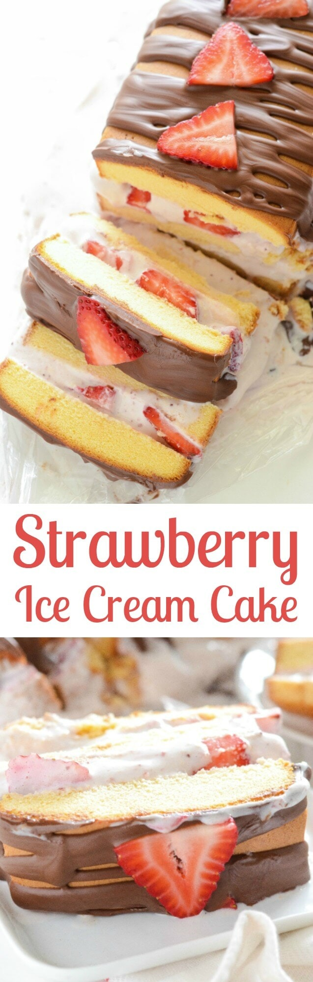 Pound Cake With Strawberries And Ice Cream