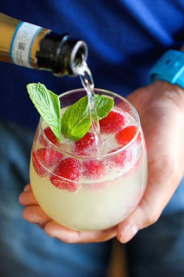 Raspberry Limoncello Prosecco Recipe