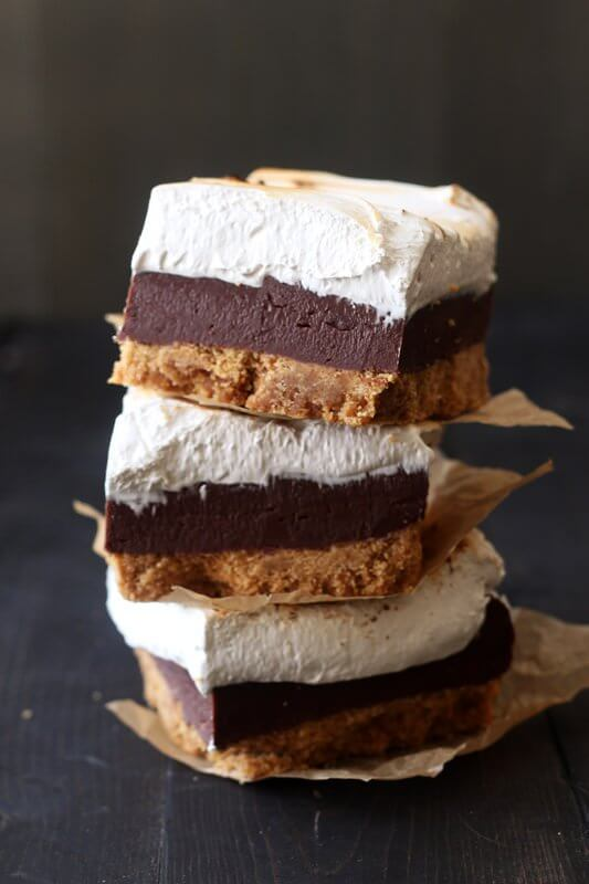 A Pile of S'mores Fudge Bars