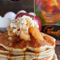 Gluten Free Apple Pie Pancakes   Easy Homemade Pancakes Recipe