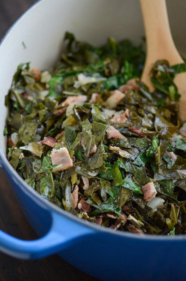 A Pot of Berr Bacon Collard Greens