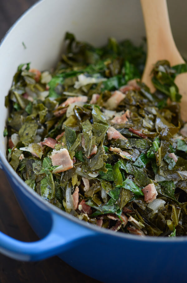 Beer Bacon Collard Greens