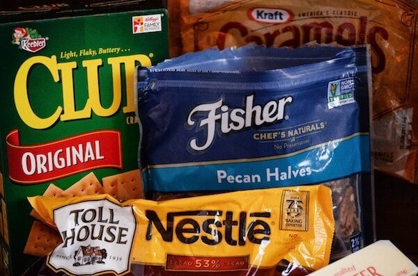 Pecan Caramel Bars ingredients.