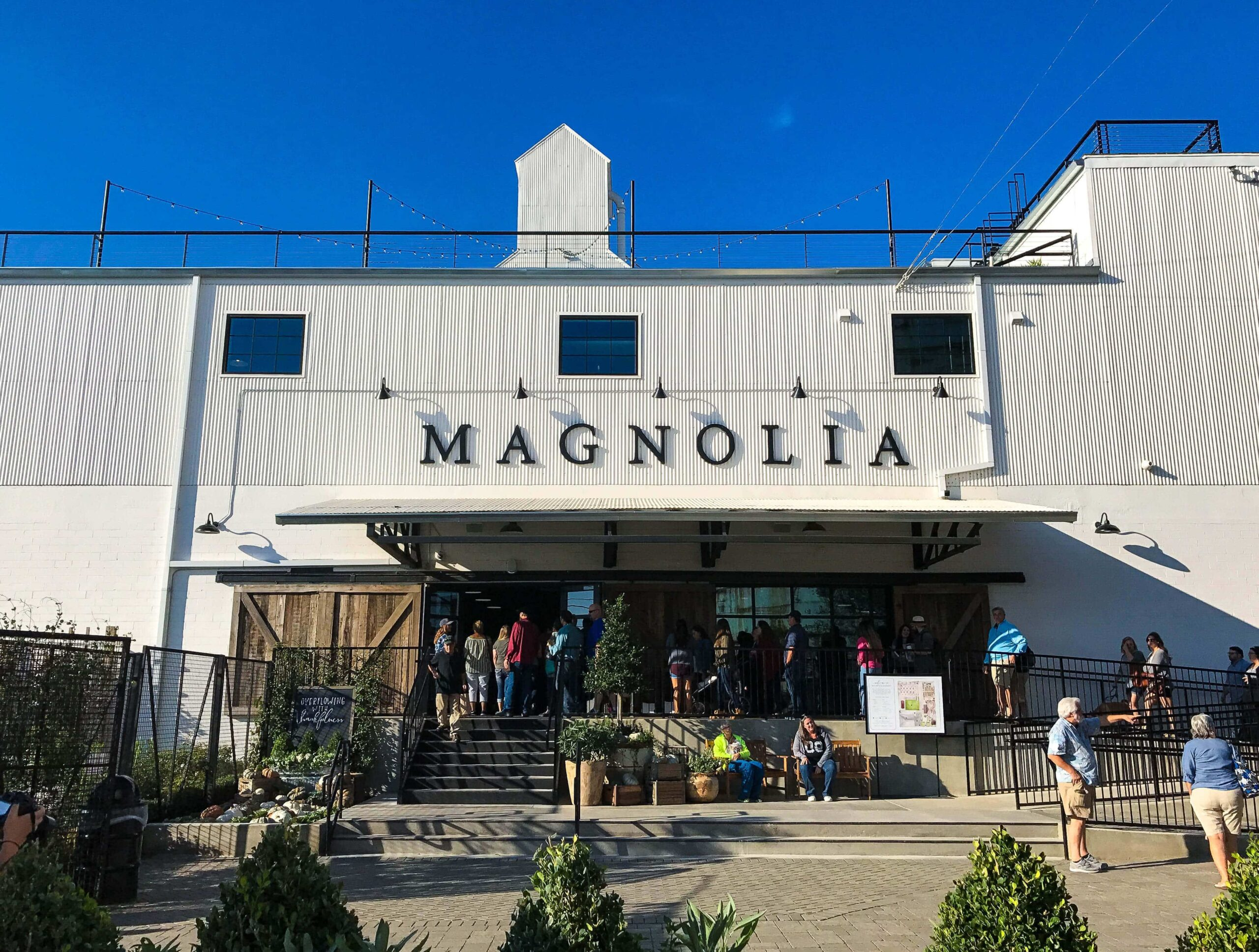 The Front of Magnolia Market on a Morning of October 2016