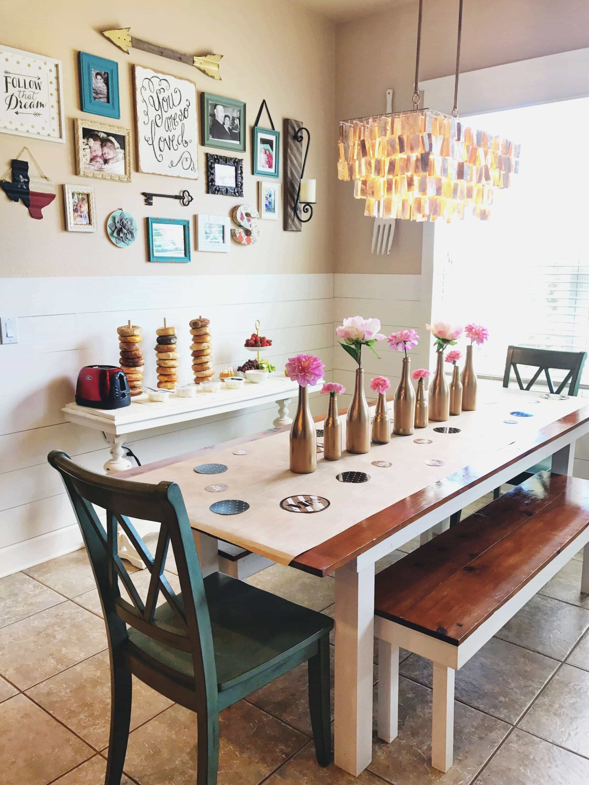 Jessica's Renovated Kitchen with the Complete Half Shiplap Wall