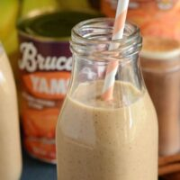 Sweet Potato Pie Smoothie - vegan, gluten free and made with just 4 ingredients!
