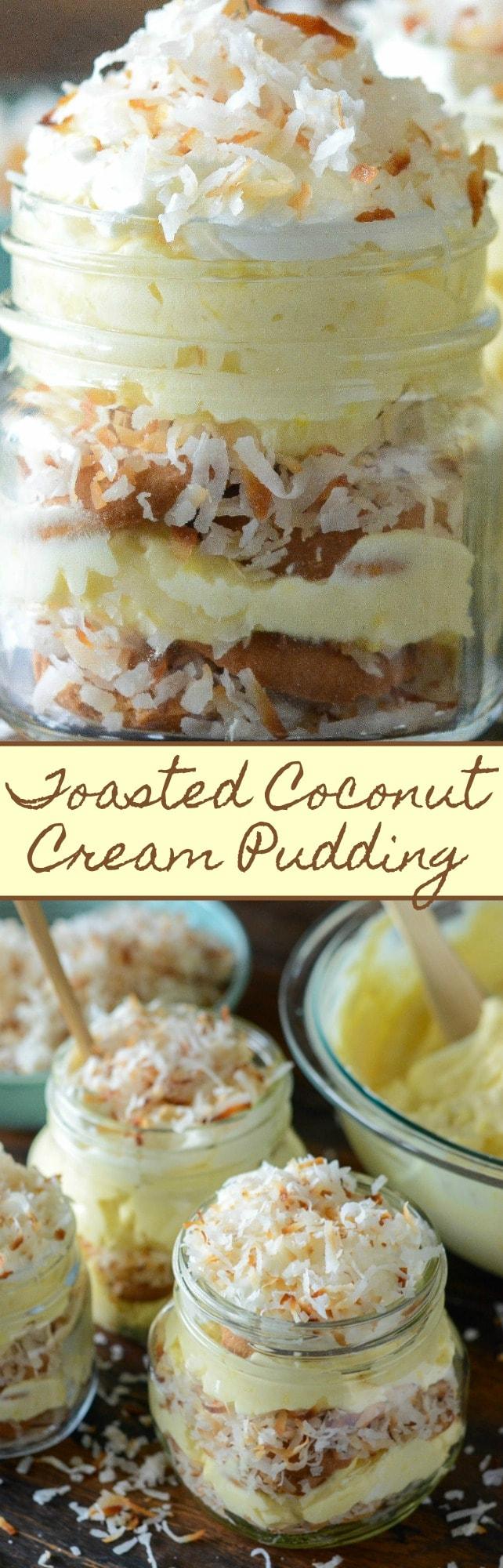 Toasted Coconut Cream Pudding The Novice Chef