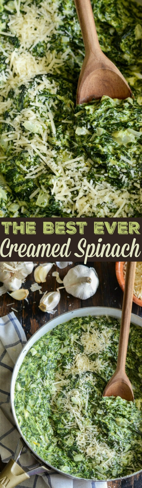 The Best Creamed Spinach: my favorite steakhouse style, extra creamy, creamed spinach takes only 15 minutes to make and is a tried and true family favorite!
