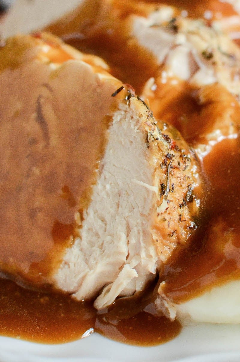 Instant Pot Turkey and Gravy: don't wait for Thanksgiving, make a super moist, one-pot turkey and gravy dinner in your instant pot with only 10 minutes of work!