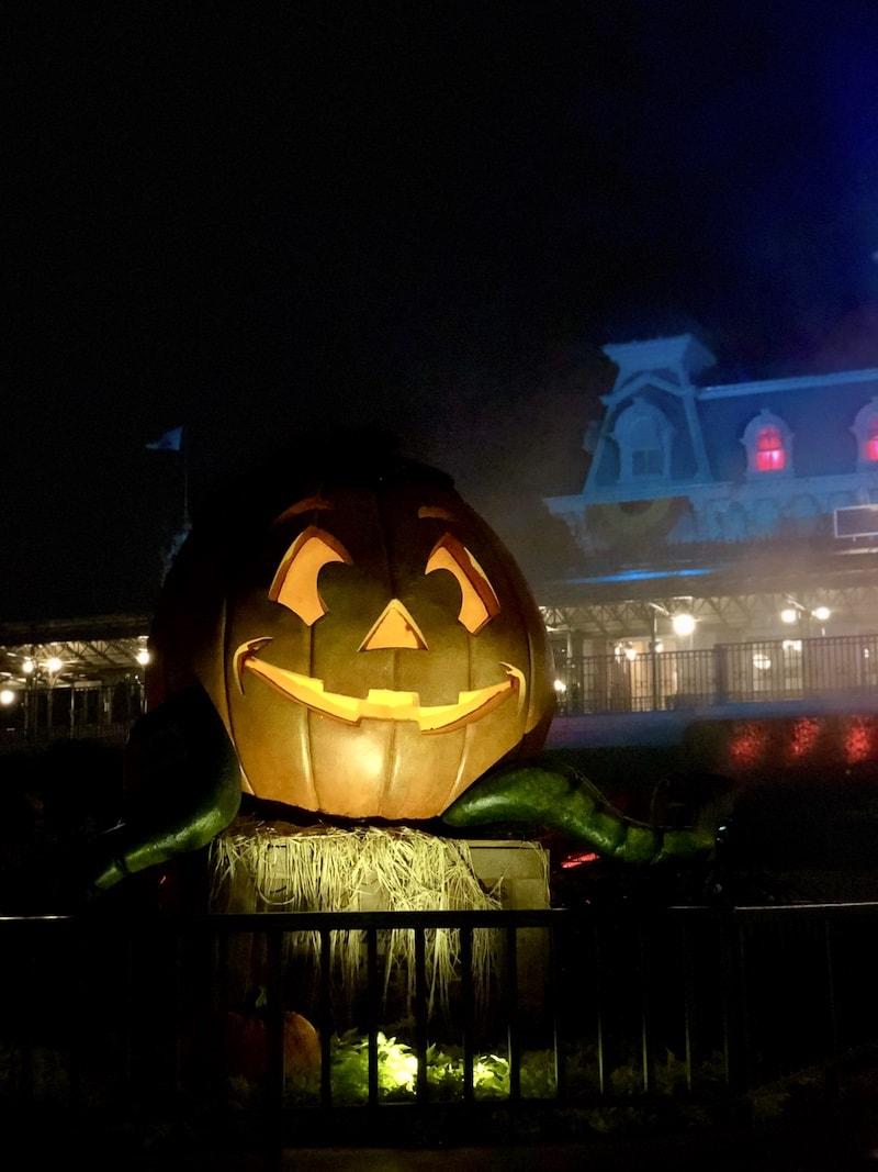 A Giant Jack-O-Lantern Decoration at Disney World