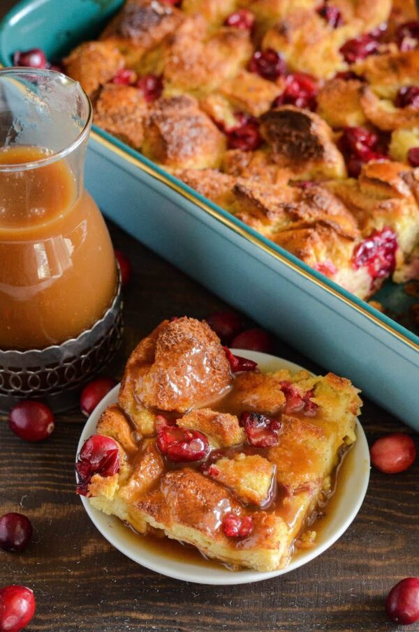 Cranberry Eggnog Bread Pudding The Novice Chef