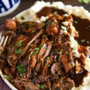 Instant Pot Beef Pot Roast: a family recipe, with two secret ingredients, for an extra flavorful beef pot roast that can be made in a crock pot or instant pot!