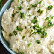 Roasted Cauliflower Mash: this is the BEST cauli mash, ever. It took me years to finally get this recipe perfect! It is full flavored, perfectly textured, with one major secret ingredient!