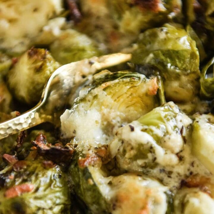 Creamy Baked Brussel Sprouts Recipe