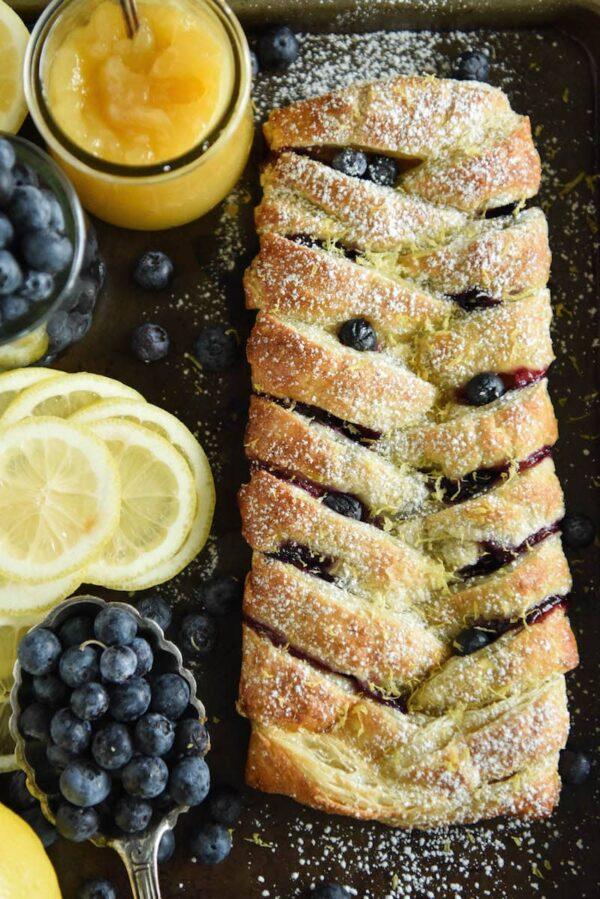 Blueberry Lemon Braid The Novice Chef