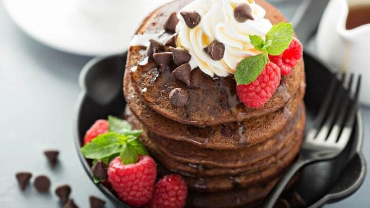 Low Carb Chocolate Chip Pancakes The Novice Chef