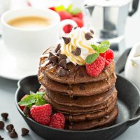Low Carb Chocolate Chip Pancakes
