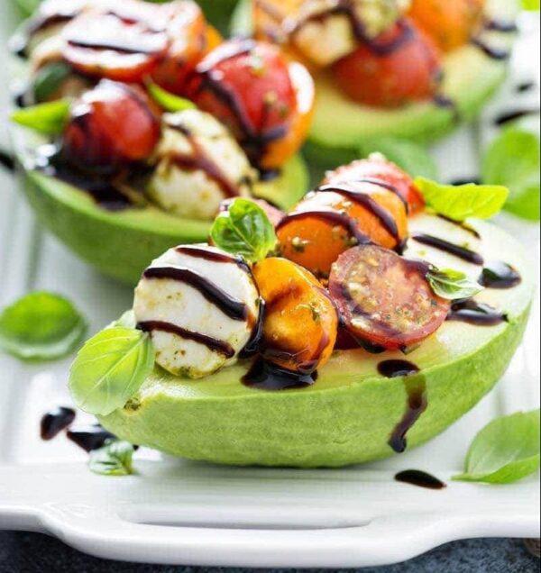 Caprese Stuffed Avocado Recipe