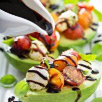 Caprese Stuffed Avocado Recipe | Easy Healthy Appetizer Recipe