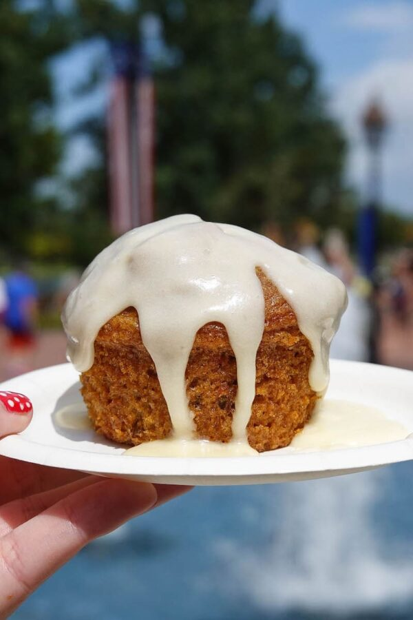 Freshly Baked Carrot Cake and Cream Cheese Icing at Epcot Food & Wine Festival