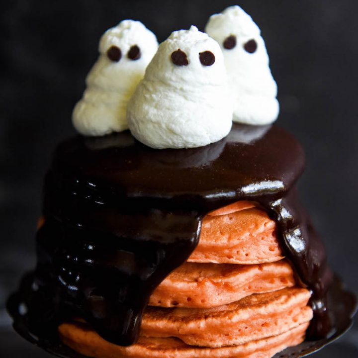 Halloween Ghost Pancakes The Novice Chef